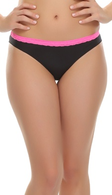 Trendy Bikini With Laces In Black