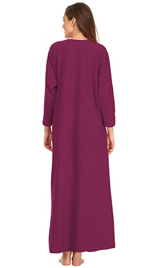 Winter Long Nightie In Wine