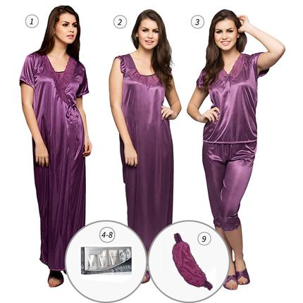 9 Pc Nightwear Set