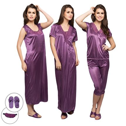 6 Pc Set In Purple