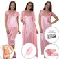 12 Pcs Nightwear Set - Baby Pink