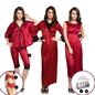 10 Pcs Nightwear Set In Maroon