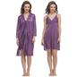 Satin 2pc Nightwear Set In Lavender