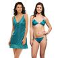 3 Pc Nightwear Set In Sea Green