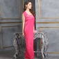 4 Pcs Satin Nightwear In Reddish Pink - Robe, Nightie, Top, Capri