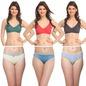6 pc Lingerie Set (3 bras & 3 bikinis)