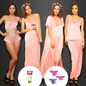 6 Pcs Nightwear Set In Baby pink + Facewash- Watch