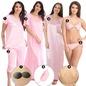 9 Pc Nightwear Set in Pink