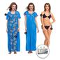 9 Pc Satin Nightwear Set - Blue
