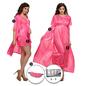 9 Pc Satin Nightwear Set - Pink