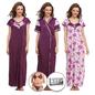 9 Pc Satin Nightwear Set - Purple