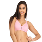 Cotton Non-Padded Non-Wired Bra With U Back - Pink