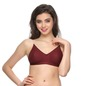 Backless Multiway Cotton Bra In Maroon