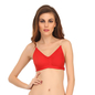 Backless Multiway Cotton Bra In Red