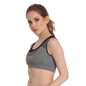 Beginners Padded Wirefree Full Cup Sports Bra With Racer Back - Grey
