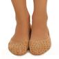 Belly Socks With Polka Dot Print - Beige