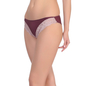 Dark Purple Bikini With Contrast Lace Trims At Legs