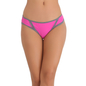 Bikini In Hot Pink With Contrast Lacy Trims