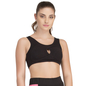 Black Cotton Spandex Sports Bra With Breathable Cups
