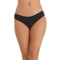 Black Cotton Spandex Bikini With Multi-coloured Printed Back Lace
