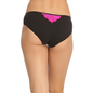 Black Cotton Spandex Bikini With Pink Lace In Front & Back