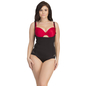 Body Suit In Black With Detachable Straps