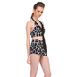2 Pc Polyamide Printed Padded Swimsuit In Black