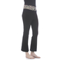 Cotton Flared Bottom Yoga Pants With Black Printed Waist Band