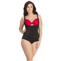 Black Body Shaper With Detachable Straps & Hidden Zip