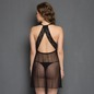 Black Sheer Night Slip With Sexy Back & Matching Thong