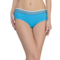 Polyamide Boyshorts In Blue With Contrast Waist Elastic