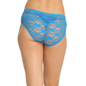 Blue Cotton Spandex Bikini With All Over Lace At Back