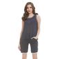 Blue Cotton Spandex Top & Shorts With Lace Trims
