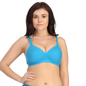 Padded Blue Sports Bra With Full Cups