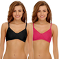 Pack of 2 Non-Padded Non-Wired Bras