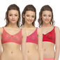 Pack Of 3 Bra In Multicolor