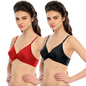 Pack Of 2 Bra In Black & Red