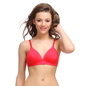 Cotton Padded T-Shirt Bra In Red With Detachable Straps