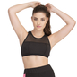 Cotton Spandex Racer Back Sports Bra In Black