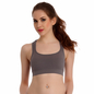Racer Back Non-Padded Wirefree Sports Bra - Grey