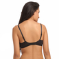 Lace Non-Padded Wirefree Bridal Bra With Demi Cup - Black