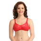 Non-Padded Wirefree Full Cup Bra - Red