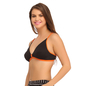 Cotton Non-Padded Wirefree Demi Cup Bra - Black