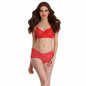 Bra & Panty Set In Red