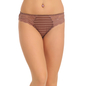 Brown Striped Bikini With Side Lacing