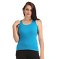 Cotton Camisole With Round Neck - Blue