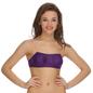 Cotton Balconette Tube Bra In Purple With Detachable Straps