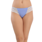 Cotton Bikini In Blue With Lacy Sides
