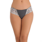 Cotton Bikini In Grey With Lacy Sides