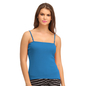 Cotton Camisole With Detachable Straps - Blue